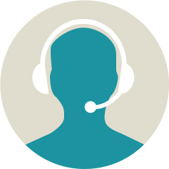 icon of person wearing a headset