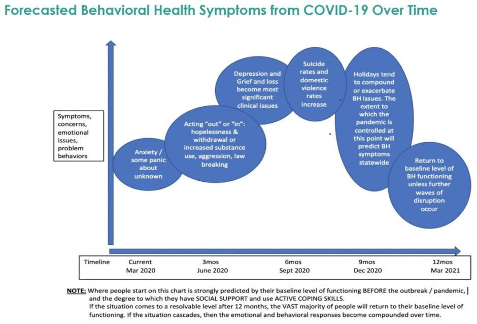 chart indicating many areas of concern during COVID-19